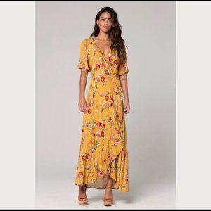 Band of Gypsies Boho Long Floral Maxi Wrap Dress